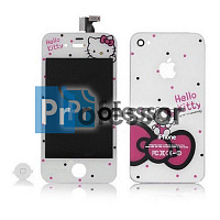 Дисплей Apple iPhone 4 с тачскрином hello kitty